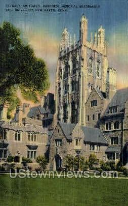 Yale, Wrexham Tower - New Haven, Connecticut CT Postcard