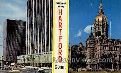 Constitution Plaza - Hartford, Connecticut CT Postcard