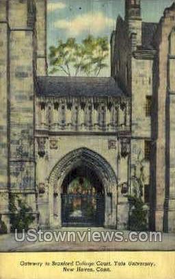Yale, Brandford Court - New Haven, Connecticut CT Postcard