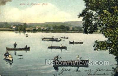 Lake at Hanover Park - Meriden, Connecticut CT Postcard