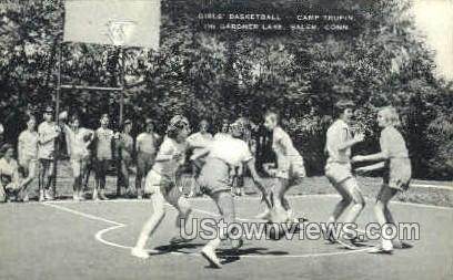 Girl's Basketball - Salem, Connecticut CT Postcard