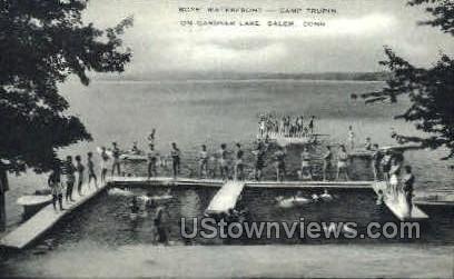 Boys Waterfront - Salem, Connecticut CT Postcard