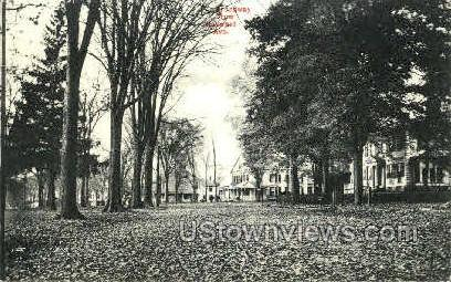 Broadway from Hayward Ave - Colchester, Connecticut CT Postcard