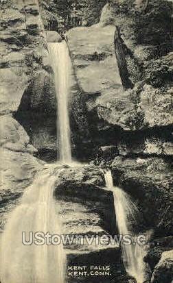 Kent Falls - Connecticut CT Postcard