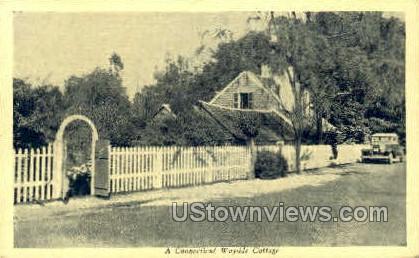 Wayside Cottage - Misc, Connecticut CT Postcard