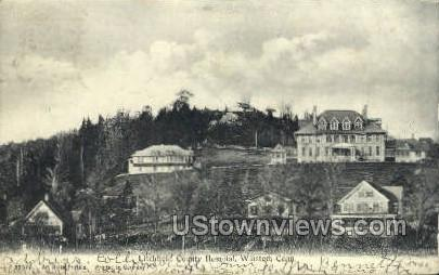 County Hospital - Winsted, Connecticut CT Postcard