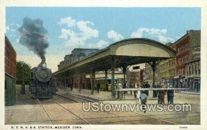 Station - Meriden, Connecticut CT Postcard