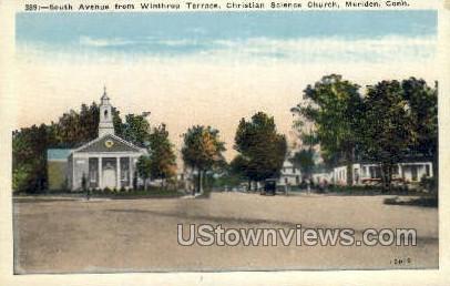 South Avenue - Meriden, Connecticut CT Postcard