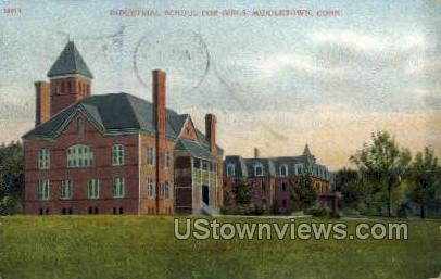 Industrial School - Middletown, Connecticut CT Postcard