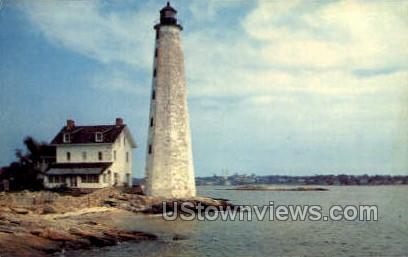 The Lighthouse - New London, Connecticut CT Postcard