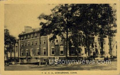 YMCA Builiding - Middletown, Connecticut CT Postcard
