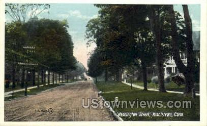 Washington Street  - Middletown, Connecticut CT Postcard