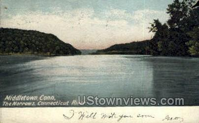 The Narrows - Middletown, Connecticut CT Postcard