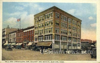 Hall and Lewis Block - Meriden, Connecticut CT Postcard