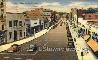 Main Street - Meriden, Connecticut CT Postcard