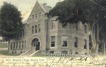 Memorial Library - Winsted, Connecticut CT Postcard