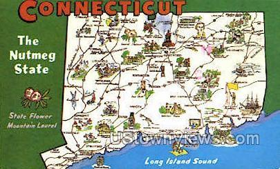The Nutmeg - Misc, Connecticut CT Postcard