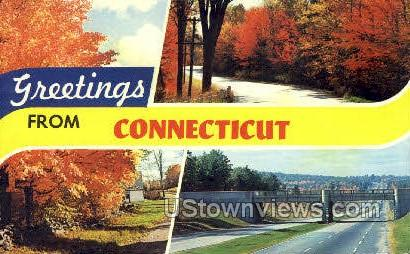 Greetings - Misc, Connecticut CT Postcard
