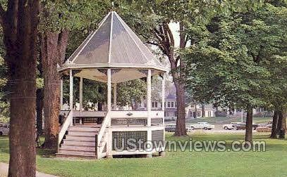 Banstand on the Green - Milford, Connecticut CT Postcard