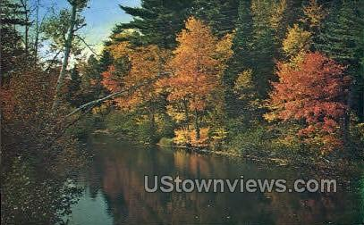 Back Road Beauty - Litchfield, Connecticut CT Postcard