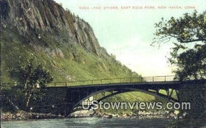 Rock Lane Bridge - New Haven, Connecticut CT Postcard