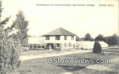Greenhouses, Conn. Agricultural College - Storrs, Connecticut CT Postcard