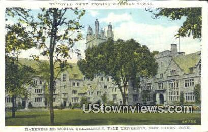 Harkness Memorial Quadrangle, Yale University - New Haven, Connecticut CT Postcard