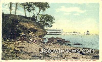 Savin Rock, Wilcox Pier - New Haven, Connecticut CT Postcard