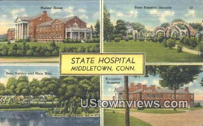 State Hospital - Middletown, Connecticut CT Postcard