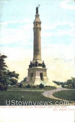 Sailors' Monument, East Rock Park - New Haven, Connecticut CT Postcard