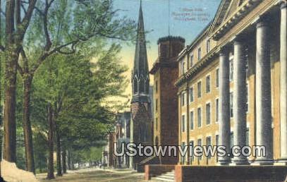 College Row, Wesleyan University - Middletown, Connecticut CT Postcard