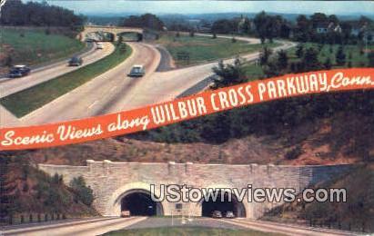 Conn West Rock Tunnel - Wilbur Cross Parkway, Connecticut CT Postcard
