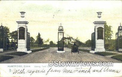 Keney Park Gate - Hartford, Connecticut CT Postcard