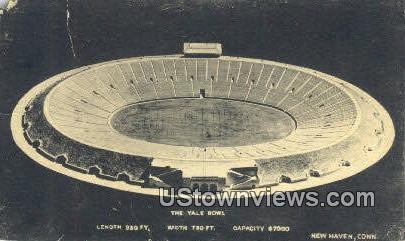 Yale Bowl - New Haven, Connecticut CT Postcard
