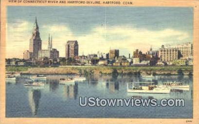 Conn River - Hartford, Connecticut CT Postcard