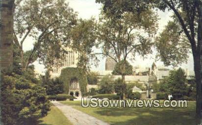 Yale University Cross Campus - New Haven, Connecticut CT Postcard