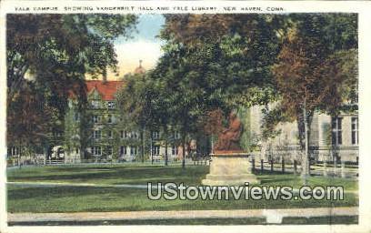 Yale Campus, Vanderbilt Hall - New Haven, Connecticut CT Postcard