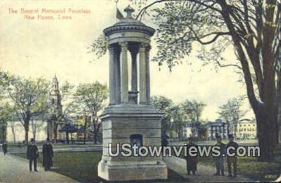 Bennet Memorial Fountain - New Haven, Connecticut CT Postcard