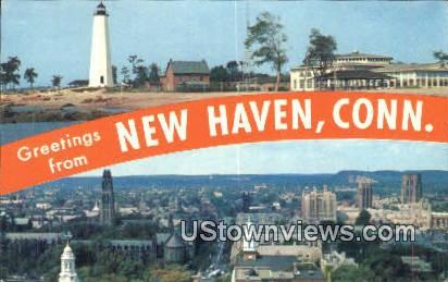Lighthouse Point - New Haven, Connecticut CT Postcard