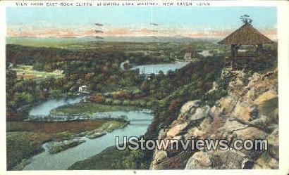 East Rock Cliffs, lake Whitney - New Haven, Connecticut CT Postcard