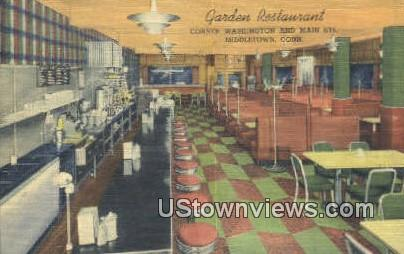 Garden Restaurant - Middletown, Connecticut CT Postcard