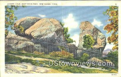 Judges' Cave, West Rock Park - New Haven, Connecticut CT Postcard