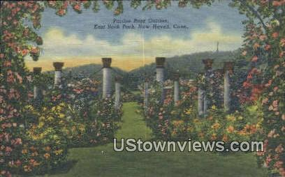 Pardee Rose Garden, East Rock Park - New Haven, Connecticut CT Postcard