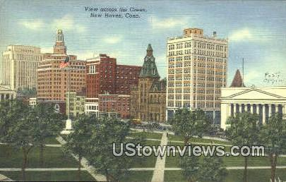 Green - New Haven, Connecticut CT Postcard