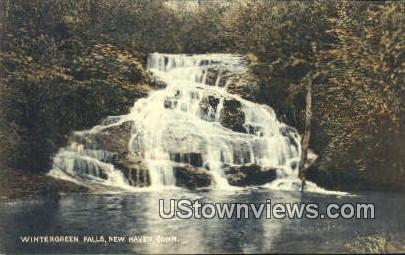 Wintergreen Falls - New Haven, Connecticut CT Postcard