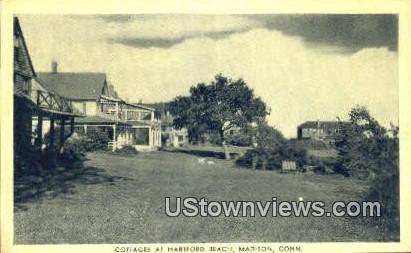 Cottages, Hartford Beach - Madison, Connecticut CT Postcard