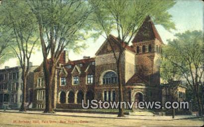St Anthony Hall, Yale Univ. - New Haven, Connecticut CT Postcard