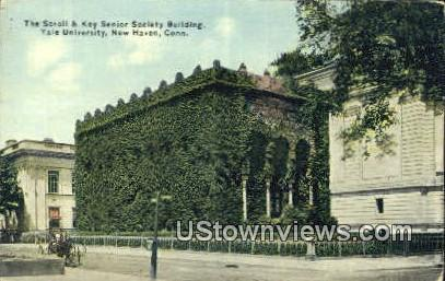 Key Senior Society Bldg, Yale University - New Haven, Connecticut CT Postcard