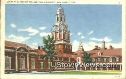 Court, Davenport College, Yale University - New Haven, Connecticut CT Postcard