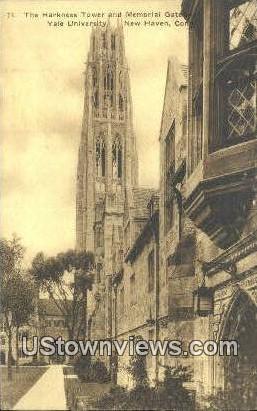 Memorial Gateway, Yale University - New Haven, Connecticut CT Postcard